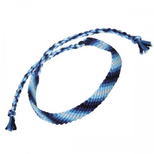 Fil coton bleu pour bracelet brésilien