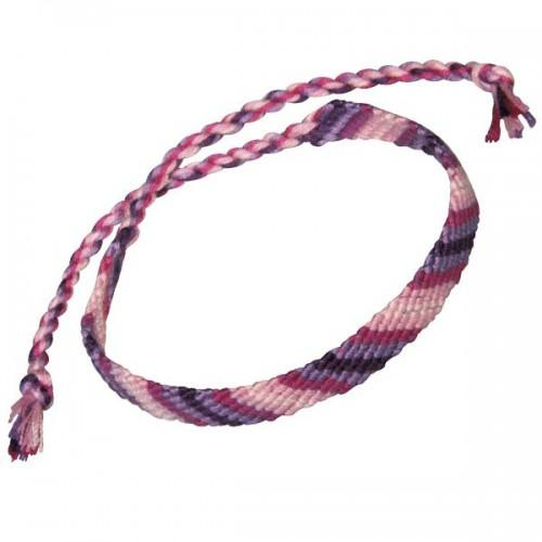 Cotton yarn for friendship bracelet - pink