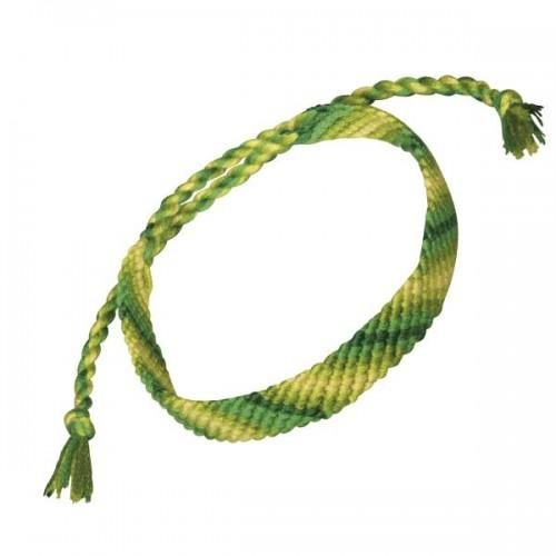 Cotton yarn for friendship bracelet - green