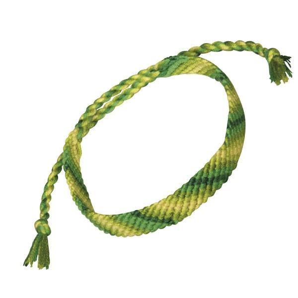 Fils coton vert pour bracelet br silien diy - Longueur fil bracelet bresilien ...