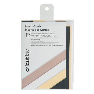 12 tarjetas y sobres Cricut de color...
