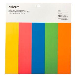 10 cartoncini autoadesivi in colori...