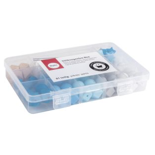 Caja de perlas de silicona - Azul