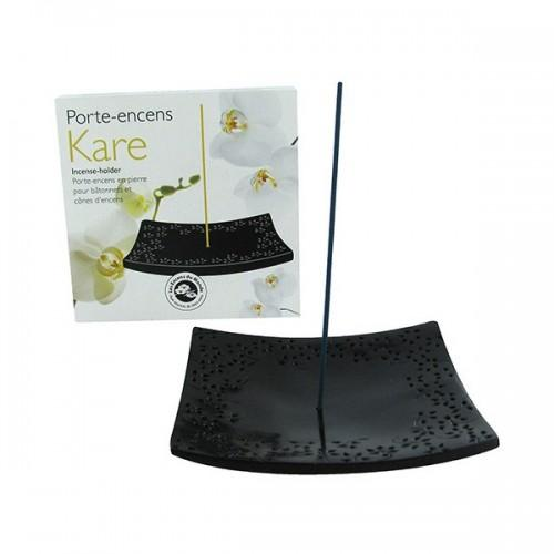 Incense holder Kare black stone