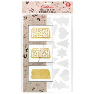 25 Christmas cookies cutter plate
