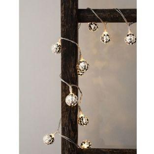 Weihnachtskranz Silber Spiegelkugeln