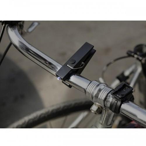 Lámpara de bicicleta con pinza - negro