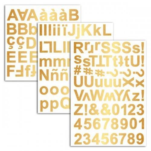 165 stickers alphabet doré
