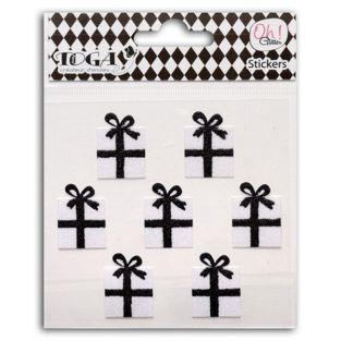 Stickers cadeaux noirs & blancs