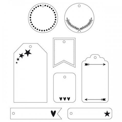 24 étiquettes blanches de décoration