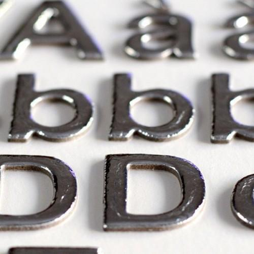165 Silver alphabet stickers