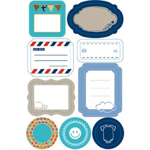 Etiquettes repositionnables bleues