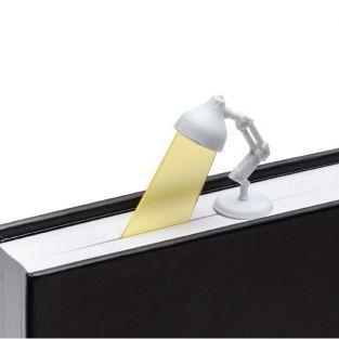 Marcador de libros Lámpara blanca