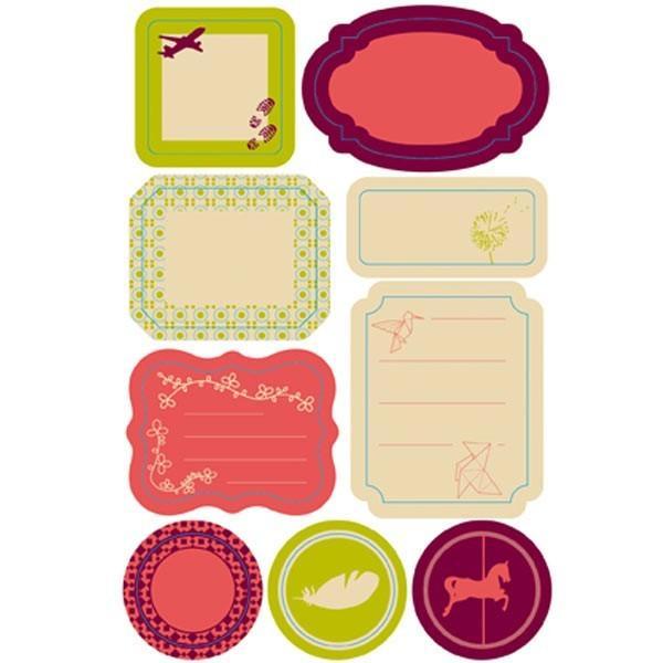 etiquettes repositionnables vintage scrapbooking. Black Bedroom Furniture Sets. Home Design Ideas