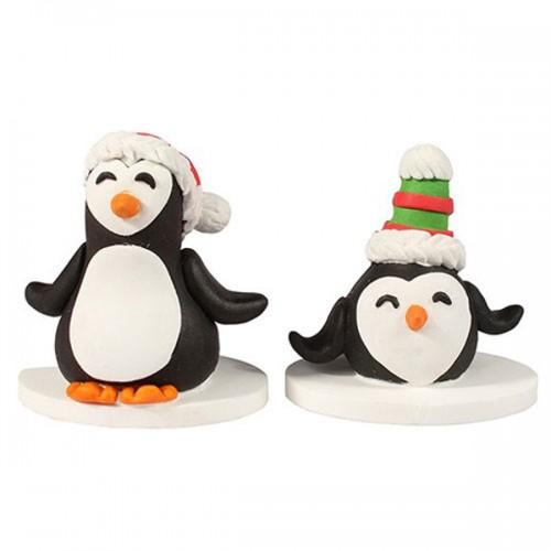 Christmas sugar decorations - Claydough Penguin
