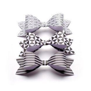 Papier Bowties - Schwarz & Weiß