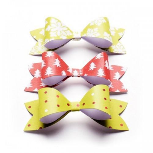 Noeuds papillons papier à monter - couleurs