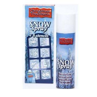 Bombe neige décorative + 8 pochoirs