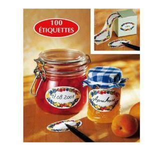 Etiquettes à confiture x 10 - Motifs fruits