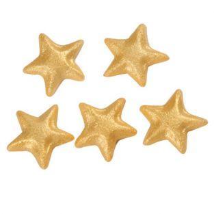 Etoiles de Noël en pâte d'amande - Doré