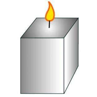 Moule à bougie cube - hauteur 8 cm