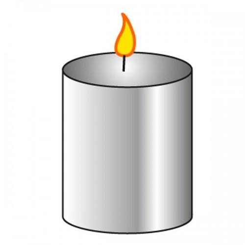 Moule à bougie cylindre Ø 8 cm