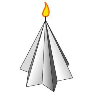 Moule à bougie étoile - hauteur 8 cm