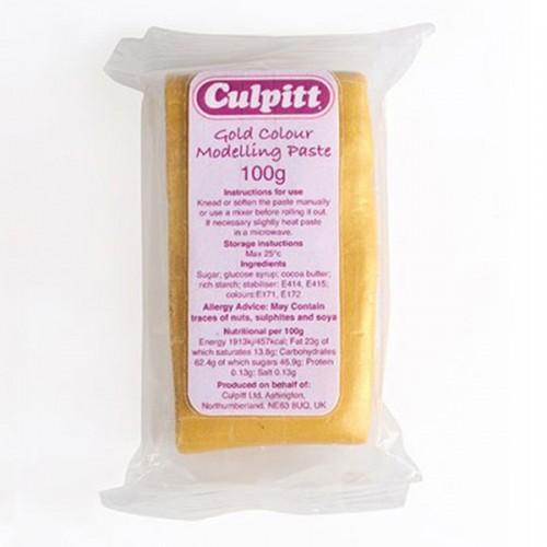 Pâte à modeler alimentaire dorée 100 g