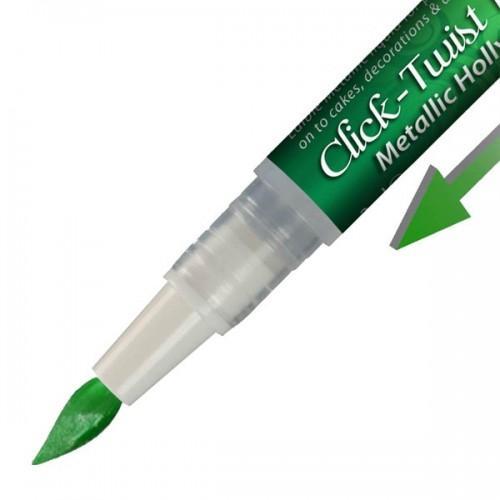 Pinceau feutre alimentaire Click-Twist Brush - vert métallisé