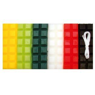 Cire à bougie 6 couleurs Noël 240 g + mèche