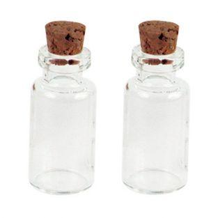 2 mini flacons à bouchon liège