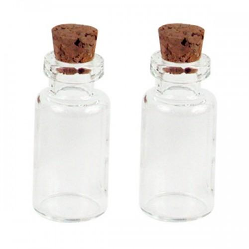 2 mini bottles with cork