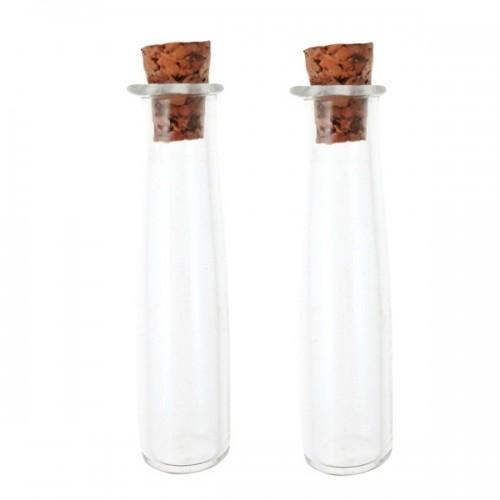 2 mini tubes à bouchon liège