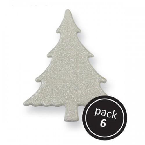 Christmas sugar decorations - Christmas Trees x 6