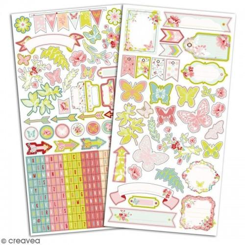 330 stickers fantaisie - Jardin Secret