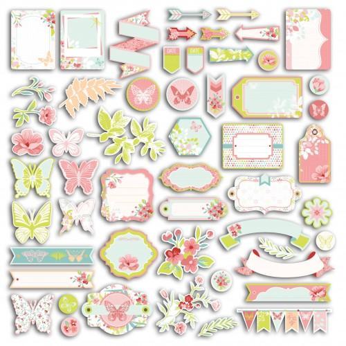 54 formes découpés - Jardin Secret