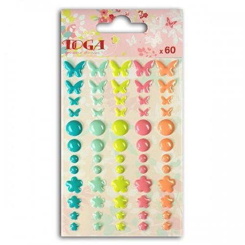 60 stickers Epoxy - Jardin Secret