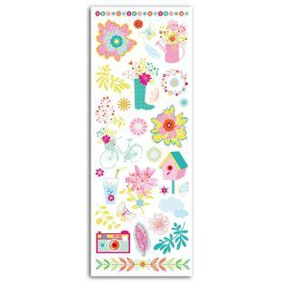 Décalcomanies en couleurs - Fleurs