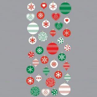 Stickers 3D boules de Noël