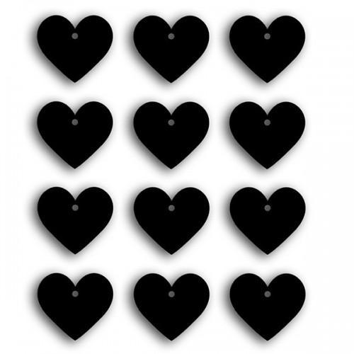 Etiquettes stickers ardoises - petits cœurs