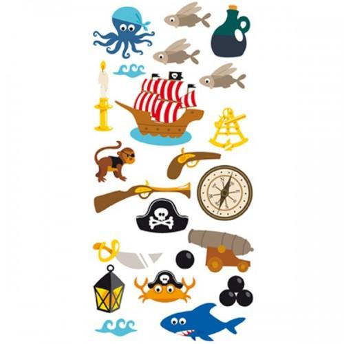 Stickers 3D Pirates & bateau