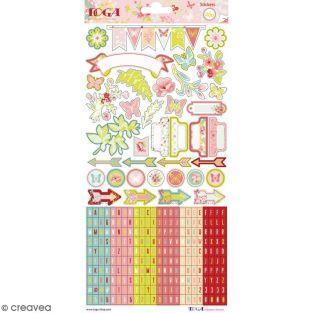 330 stickers fantaisie - Jardin Secret