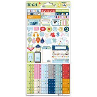 330 stickers fantaisie - Réseaux sociaux
