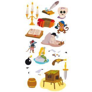 Stickers 3D Pirates & squelettes