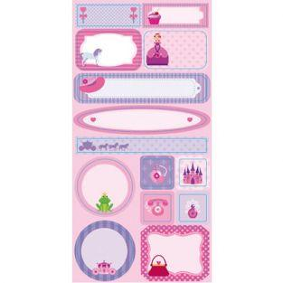 Repositionable labels Princess