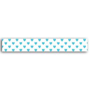 Masking tape cœurs bleu - 10 m