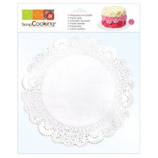12 napperons dentelle blanc