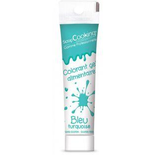 Gel colorant alimentaire bleu turquoise 20 g
