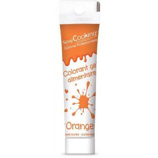 Gel colorante comestible naranja 20 g