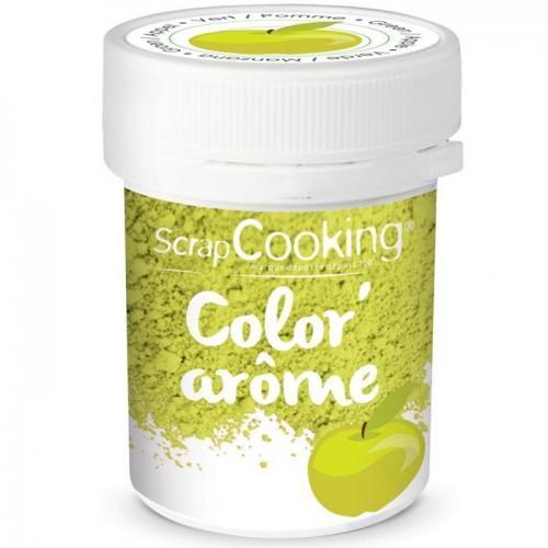 Colorant alimentaire vert - arôme pomme 10 g